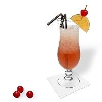 Sugerencias de presentación en un vaso huracán.