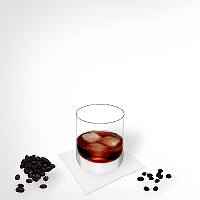 Black Russian im Tumblerglas.