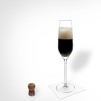 Black Velvet im Champagnerglas.