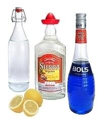 Blue Margarita Zutaten: Mit blauem Curaçao (standard)
