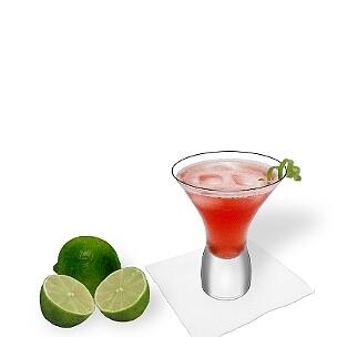 Eine eher ungewöhnliche aber hübsche Option für Cosmopolitan im Cancun-Glas.