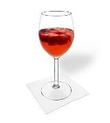 Erdbeerbowle Zubereitung: Servieren