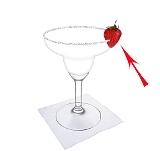 Frozen Strawberry Margarita Zubereitung: Erdbeer Dekoration