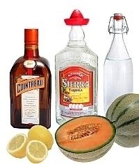Melon Margarita Zutaten: Mit frischer Melone (standard)