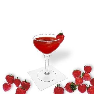 Eine weitere großartige Option für Erdbeer Margarita, eine Cocktailschale.