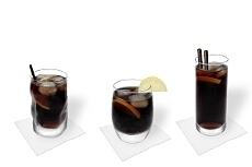 Verschiedene Whisky Cola Decorationen