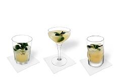 Verschiedene Whisky Sour Dekorationen